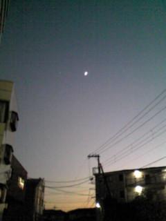 お月様と…