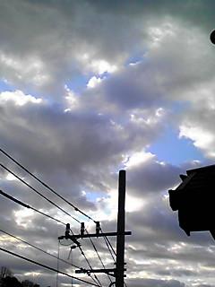 今朝の空は…こんな!