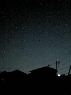 夕方から夜へ…そして一番星!