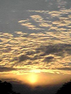 自然の芸術…夕日、夕焼け!