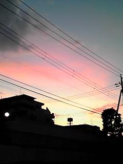 きれいな夕焼け〜!