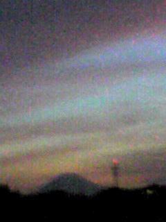 夕闇迫る空のグラデーション!