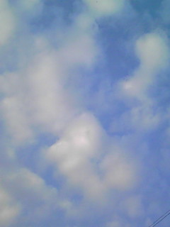 今日の直空…ん?(青空)と夕日