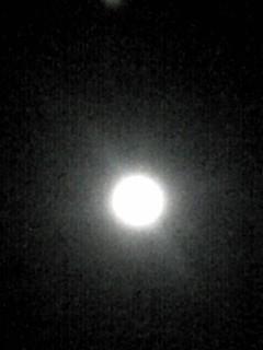 その後、満月のお月様には会えました〜♪