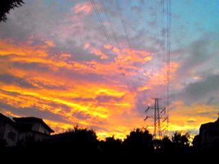 台風が過ぎ去って…そして夕焼け