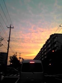 王子誕生日の夕焼け空♪