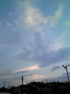 今朝は物凄い豪雨・・・そして夕方の空