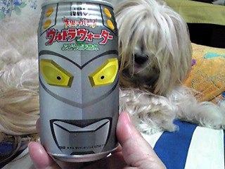 大果汁バトル「ウルトラウォーター」ぶどうの天然水…インパクト有る缶ですね〜♪