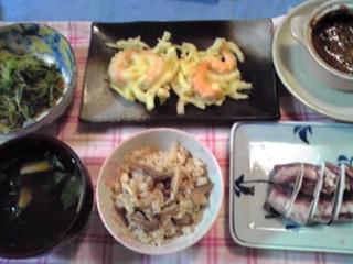 昨夜の晩御飯〜!