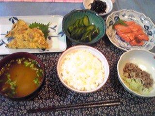 昨日の王子の朝御飯にござい〜!