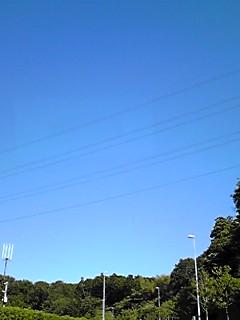 秋晴れの今日の青空〜!