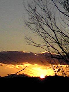今日の夕日・夕焼けそして満月の月