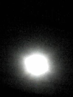 今夜のお月様は輝いていました♪