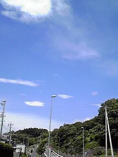 梅雨明けの今日の空と早くも秋の用意出来てます!のこんな姿を