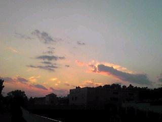 昨日の夕焼け(東の空、西の空)