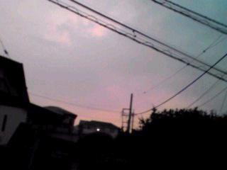 昨日の満月と夕焼け