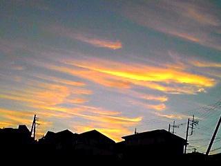 巻雲(けんうん)の夕焼け