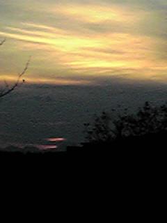 今日の夕焼けそして飛行機雲♪
