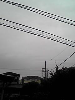 今朝の空…さて?雪は降るのかな?