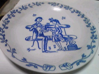 ペイネのお皿でミルクレープ