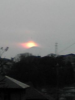 夕日のダイヤモンド富士(ちょっとアマイけど…)