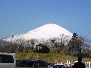 富士山くっきりの朝景色♪