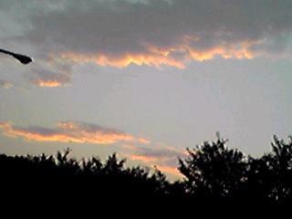 あぁ〜、一日が終わった〜!って深呼吸の夕空