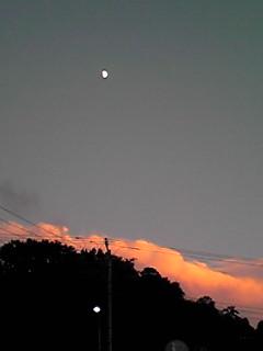 今日の夕焼けは南の空を染めました♪