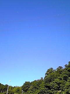 台風一過の青空が広がって…