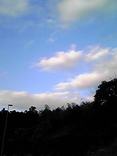 今日の夕空風景