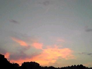 陽が落ちた後の夕焼け!