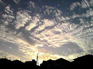 今日の秋空夕焼け空