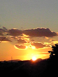 夕日、夕焼け、富士の山♪