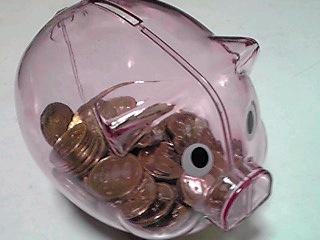 ブタさんの貯金箱