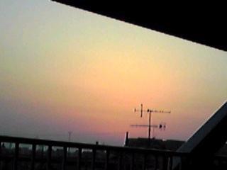 昨日の満月・夕焼けそしてドクダミの花一輪