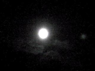 今夜は久しぶりで満月のお月様を!