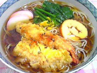 今日の昼ご飯は温かい日本蕎麦にしました!