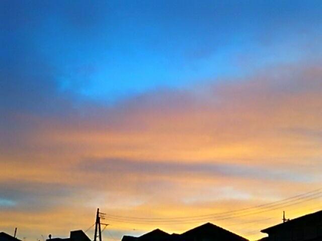 久しぶりに綺麗な夕焼けが見られました~♪