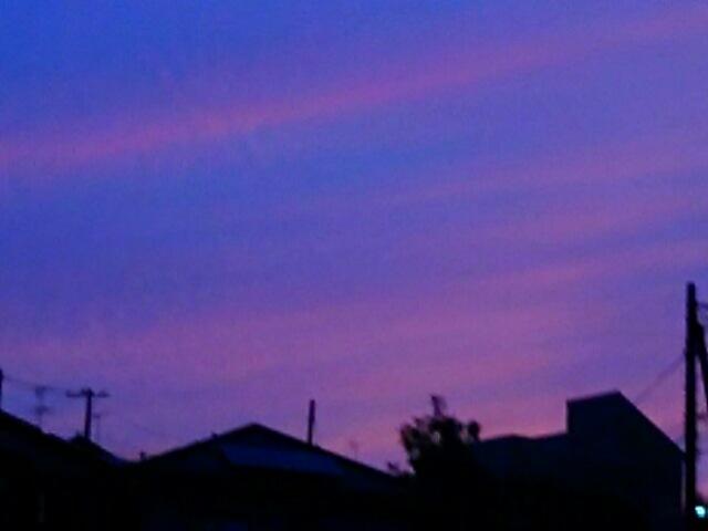 今日の夕焼けも凄かった~( v^-゜)♪