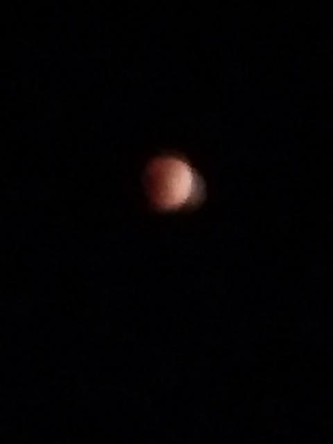 昨夜の満月からの軌跡